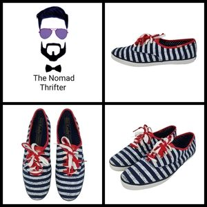Keds Champion Patriotic Striped Low Top Sneakers,